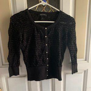 White House Black Market Xs Lace Button-up
